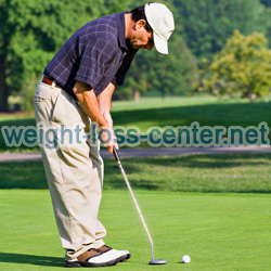 Getting in shape after 40 requires that you eat a healthy diet and get more exercise. Activites that you can do at any age, such as golf, are a great way to get in better shape.