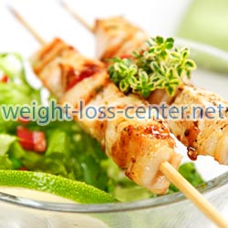 When eating late at night choose meals that are lighter, such as salads.